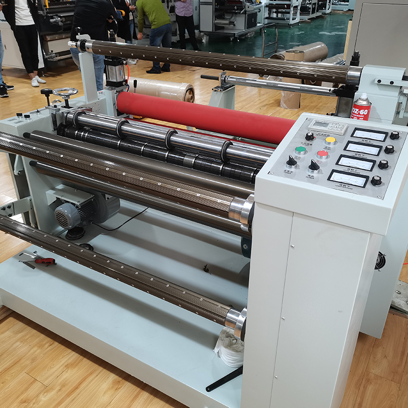 Good Price jumbo Roll Paper Film Slitting Rewinding Machine with laminating machines
